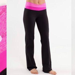 Lululemon Black Pink Astro Flare Legging 12